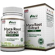 Maca Root Capsules 2500mg by Nu U, 180 Capsules (6 Month's Supply)