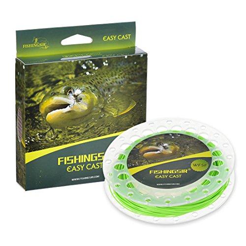 FishingSir La ligne EasyCast pour pêche à la mouche 100FT (WF3F 4F 5F 6F 7F 8F)