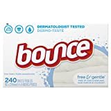 Bounce Fabric Softener Dryer Sheets Free & Gentle 240CT
