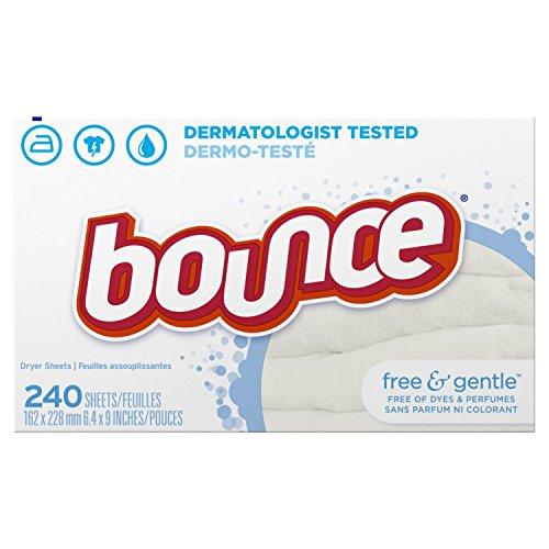 Bounce Free & Gentle - dryer sheets, 240 Trocknertücher (für sensible Haut) USA