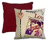 CUSCINO PERSONALIZZATO PERSONALIZZABILE IN JUTA STAMPA FOTO SAN VALENTINO IDEA REGALO SWEET LOVE