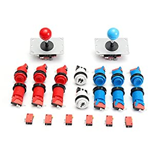 GOZAR Joystick Push Button Start Knopf Micro Switch DIY Kit Für Arcade-Spiel