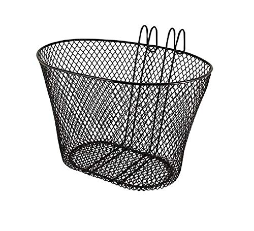 Ducomi Front Fahrradkorb für Damen, Herren, Kinder und Hund - Universal Fahrradkorb für Lenker - Packtasche aus Rostfreiem, Plastifiziertem Metall zum Radfahren und Einkaufen (32 x 25 x 22 cm)