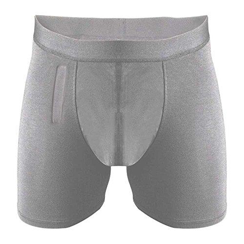 NRS Healthcare P01821 Confitex Inkontinenz Unterwäsche mit seitlichem Eingriff für Männer, Medium, grau - Für Männer Inkontinenz-unterwäsche