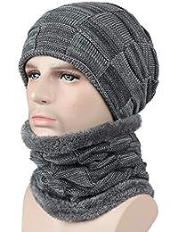 ZMYLOVE Sombrero de Hombre y Mujer Invierno b516c5d44dad