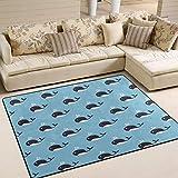 Use7 Teppich, Motiv Wal, für Wohnzimmer, Schlafzimmer, Textil, Mehrfarbig, 160cm x 122cm(5.3 x 4 feet)