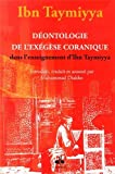 Déontologie de l'exégèse coranique dans l'enseignement d'Ibn Taymiyya...