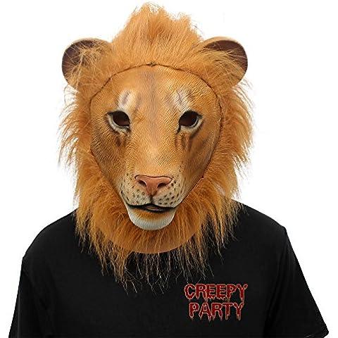 CreepyParty novit¨¤ festa di halloween costume foresta lattice grosso animale maschera testa