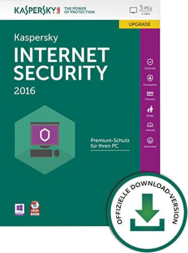 Kaspersky Internet Security 2016 5 Lizenzen Upgrade [PC Download]