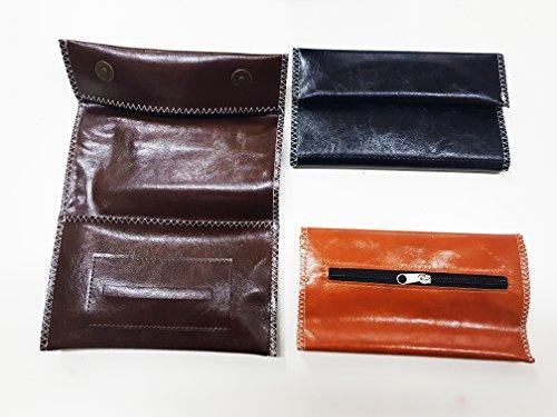 Takestop® Tabaco estuche porta Tabaco Pouch Liar Filtro Filtros de Eco Piel Funda Borsello costuras color aleatorio