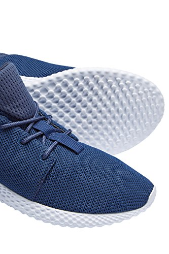 next Homme Baskets En Maille Filet Bleu Marine