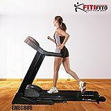 Fitifito Cinta de correr para fitness 8 PS,con pantalla LCD, 5 modelos de ejercicio y 99...