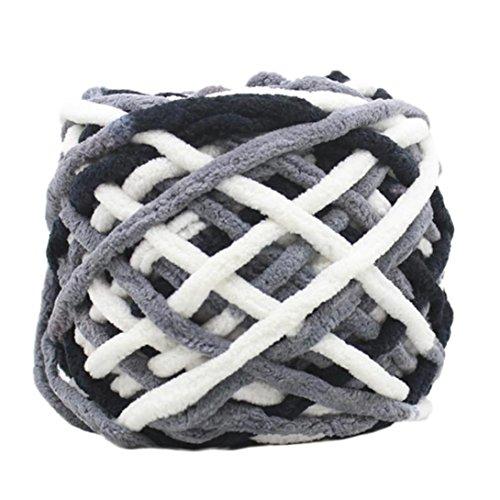 squarex Kammgarn Super Weich Natürlich glatter Seide Wolle Garn Stricken Pullover Strickgarn AS Show M (Kammgarn Stricken Garn)