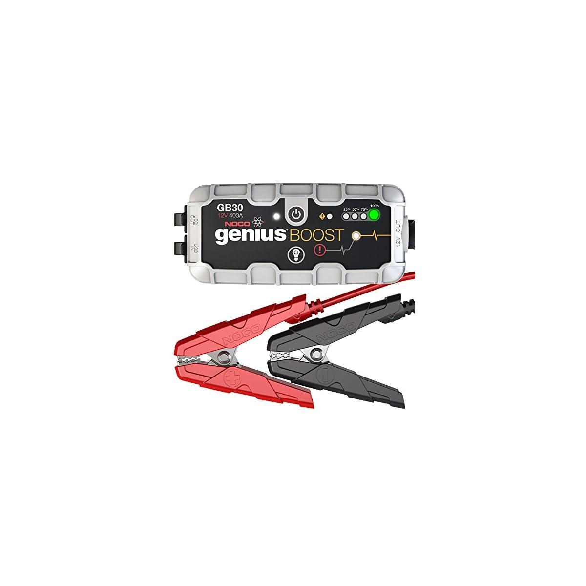 51pvvFafZvL. SS1200  - NOCO GB30 Genius Cargador Inteligente de Batería 12V Lithium, 400 Amp