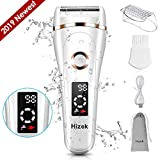 Lady Shaver,Hizek Cordless Wet and Dry Bikini Trimmer Women Rechargeable Electric Lady Shaver