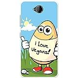Ei mit I Love Vegans Hartschalenhülle Telefonhülle zum Aufstecken für Microsoft Lumia 650