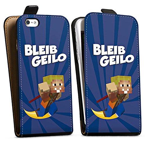 Apple iPhone X Silikon Hülle Case Schutzhülle LPmitKev Fanartikel Merchandise Bleib Geilo Blau Downflip Tasche schwarz