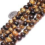 Sweet & Happy Girl' s Store Freeform patata a forma di filo di perle preziose 38,1cm creazione di gioielli perline, Tiger Eye Beads