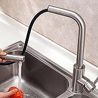 BBSLT Acciaio inossidabile rubinetto di cucina cucina tirare in acciaio inox rubinetto di cucina calda e fredda acqua di rubinetto tubo diametro: 20mm