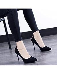 MDRW-Signora/Elegante/Lavoro/Tempo Libero/Primavera bBocca Poco Profonde Unico Punto Scarpe Fine Con 9Cm Tacchi…