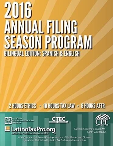 2016 Annual Filing Season Program Bilingual Edition: Spanish & English: Bilingual AFSP