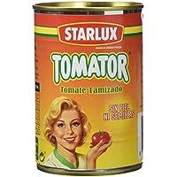 Starlux- Tomator - Tomate Natural Tamizado - 410 g - [Pack de 12]