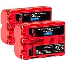 2x Baxxtar Pro Energy batería para Sony NP-FM500H (2040mAh UL Certificado) con Infochip-Sistema de batería inteligente
