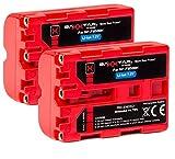 2X Baxxtar Pro Energy Batterie Sony NP-FM500H (véritable 2040 mAh Certificat de UL) Info Chip - Système de Batterie Intelligent