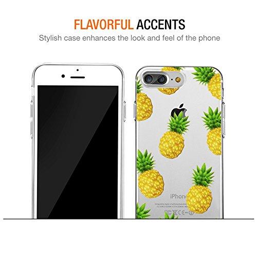 iPhone 8 Plus Hülle, iPhone 7 Plus Hülle, Eouine Ultra Slim Soft TPU Muster Schutzhülle Silikon Stoßfest Bumper Case Cover für Apple iPhone 7 Plus (2016) / iPhone 8 Plus (2017) 5.5-inch Smartphone (Bu Ananas