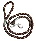 Dicke Kordel-Hundeleine, choco/beige/white, Länge 150 cm