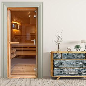 t rtapete selbstklebend t rposter sauna fototapete. Black Bedroom Furniture Sets. Home Design Ideas