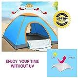 Zelt - MANFIELD Automatisch Pop Up Zelt für 3-4 Personen Outdoor Camping und Wandern (Orange)