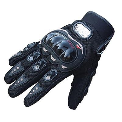 Culater® Rock schwarz kurz Sport PU Leder Motorrad Sommer Herren Handschuhe