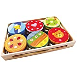 New Classic Toys - 2042907 - Percussion - Tambourin Display Assortis - 6 Pièces