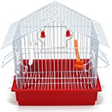 BPS Bird Cage Metal avec Feeder Drinker Swing Jumper Color Bucket Expédition aléatoire 27,5 x 19,5 x 30 cm BPS-1162