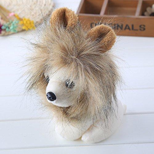 BigFamily Niedlicher pelzartiger Haustier-HutMit OhrParty Kleidung ZubehörKostüm Lion Mähne PerückeHalloween verkleiden sich(Mischen)