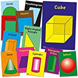 "Primary Teaching Services A4 ""Geometry And Shapes"" Card Poster (Pack of 12)"