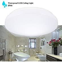 B-right Plafón LED Baños y Cocinas, Resistente al agua IP44, 5000K, 1050LM, Blanco frío, 15W = 30W Fluorescente,Iluminación Impermeable para el Cuarto de Baño, el Balcón, la Cocina, el Pasillo, la Oficina, el Pasillo,etc.