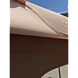 vidaXL Tenda da Sole Retrattile Automatica per Finestra Schermo Parasole a Scomparsa 400x300 cm in Tessuto PU Giallo e Bianco Telaio in Alluminio