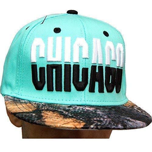 KB Ethos Chicago Casquettes Snapback De Peau De Serpent, Sommet Plat Muni De Baseball Hip hop Bling Chapeaux