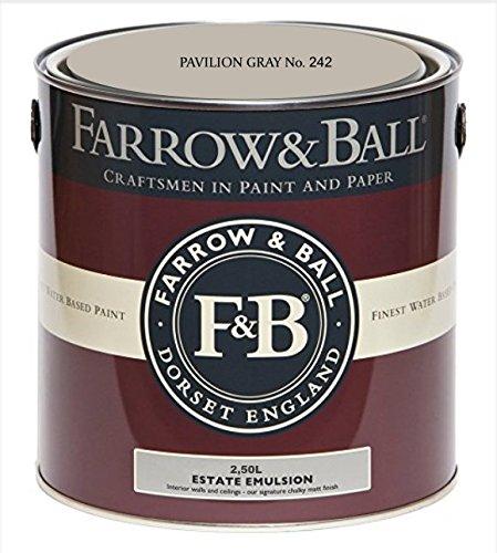 Farrow & Ball Estate Emulsion 2,5 Liter - PAVILION GRAY No. 242