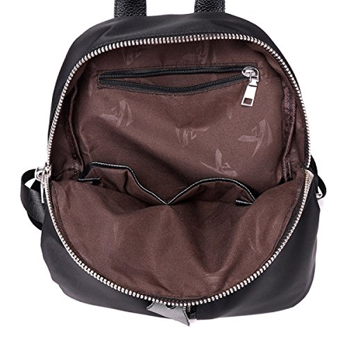 BUKUANG Nylon Umhängetasche Handtasche Einfach Wilde Art Und Weise Beiläufigen Segeltuchrucksack Reisetasche Oxford,Black Black