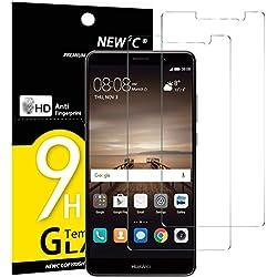 NEW'C Verre Trempé pour Huawei Mate 9,[Pack de 2] Film Protection écran - Anti Rayures - sans Bulles d'air -Ultra Résistant (0,33mm HD Ultra Transparent) Dureté 9H Glass
