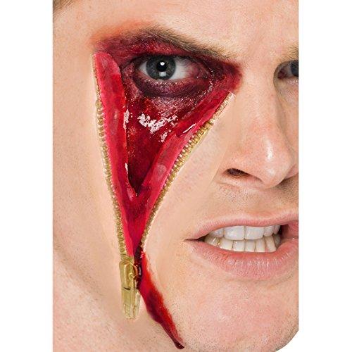 Halloween Wunde Reißverschluss Latex Gesichtswunde Make Up Applikation Horror Latexwunde Auge Zombie Schminkset Blut Halloween Schminke