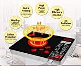 Surya Infrared Ray Induction Cooktop Model DZ18-IN-SS19 in Crystalline Glass Plate
