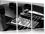 Gitarre schwarz weiß, Guitar, 3-Teiler Leinwandbild 120x80 Bild auf Leinwand, XXL riesige Bilder fertig gerahmt mit Keilrahmen, Kunstdruck auf Wandbild mit Rahmen, gänstiger als Gemälde oder Ölbild, kein Poster oder Plakat