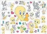 Joy Toy Looney Tunes 000153 - Baby Sticker per la Parete, 35 pezzi, 50x18 cm
