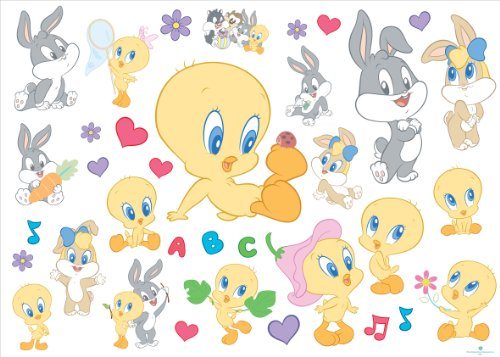 joy-toy-looney-tunes-000153-baby-sticker-per-la-parete-35-pezzi-50x18-cm