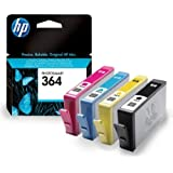 4 Cartouche d'encre pour Imprimante HP Deskjet 3520 - Cyan / Jaune / Magenta / Noir- Avec Puce