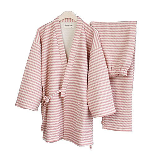 Femme Pour Kostüm - Fancy Pumpkin Pyjama-Kostüm-Kimono-Dame Chaud Pour Femmes Plus Epeiron Peignoirs Stil japonais [Taille L Rose]